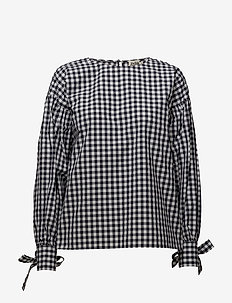 Stephanie Blouse - langærmede bluser - navy check