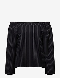 Willow Blouse - blouses à manches longues - navy pin stripe