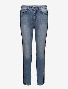 Sarah Jeans - slim jeans - mid blue stripe