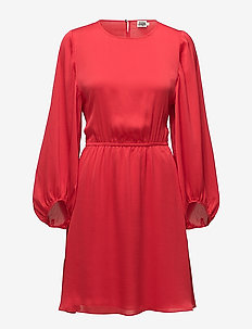 Serena Dress - RASPBERRY RED