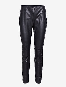 Arleen Trousers - spodnie skórzane - black