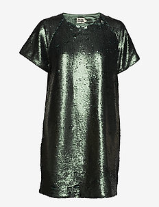 Kim Sequin Dress - GREEN