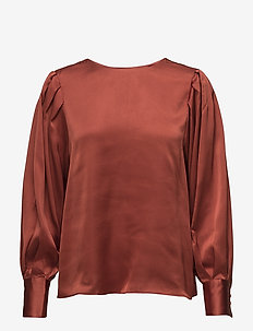 Edith Blouse - DARK RUST