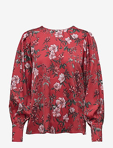Edith Blouse - langærmede bluser - red