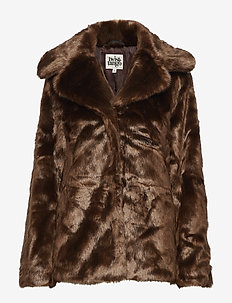 Grace Faux Fur Jacket - fuskpäls - brown