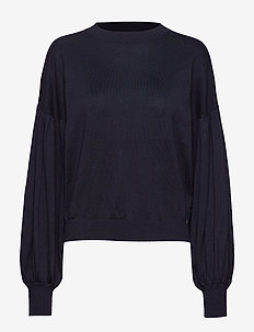 Beatrice Sweater Blackish Blue - jumpers - blackish blue