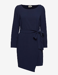 Adele Dress Blackish Blue - BLACKISH BLUE