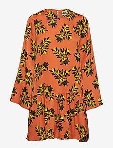 Tilly Dress Orange Flower - ORANGE FLOWER