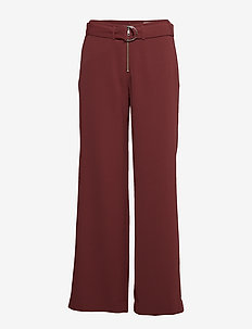 Sheila Trousers - pantalons larges - dark wine