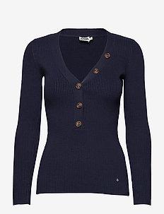 Miriam Button Sweater - NAVY