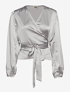Valentina Blouse - SILVER BLUE