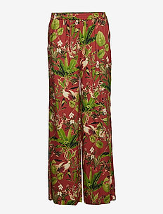 Philippa Trousers - pantalons larges - brick flamingo