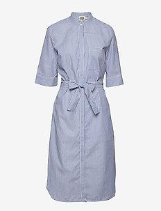 Eva Shirt Dress - BLUE/WHITE STRIPE