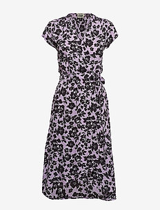 Hilma Dress - PURPLE FLOWER