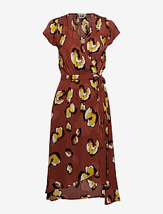 Hilma Dress - TERRACOTTA LEO