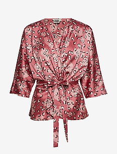 Georgina Blouse Mini - langærmede bluser - rose leo