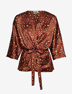 Georgina Blouse Mini - TERRACOTTA LEO