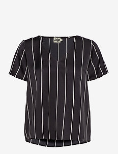 Brenda Top - BLACK STRIPE