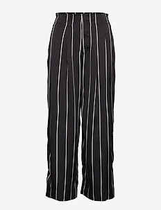 Brenda Trousers - wide leg trousers - black stripe