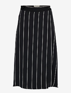 My Skirt - midinederdele - black stripe