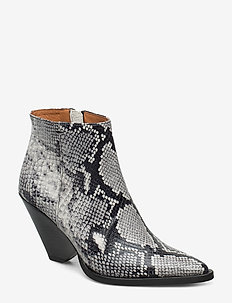 Dallas Boots - talon haut - grey snake