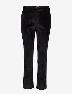 Lilly Cord Trousers - suorat housut - black