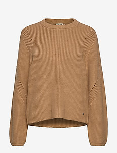 Abby Sweater - neulepuserot - camel