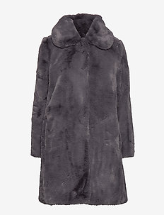 Birgit Faux Fur Coat - DOVE