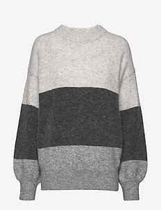 Zina Sweater - pulls - grey stripe