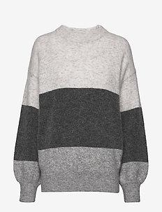 Zina Sweater - trøjer - grey stripe
