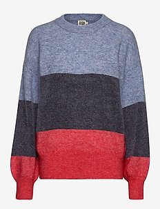 Zina Sweater - pulls - navy stripe