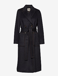 Lilian Coat - manteaux en laine - dark grey