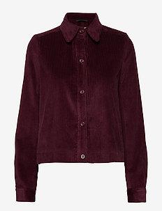 Angela Cord Jacket - light jackets - deep purple