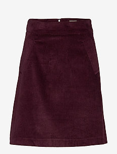 Angela Cord Skirt - short skirts - deep purple