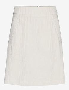 Angela Cord Skirt - spódnice do kolan i midi - eggshell