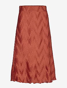 Ella Skirt - midi skirts - rusty red