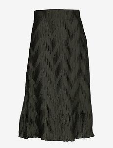 Ella Skirt Deep - spódnice do kolan i midi - khaki