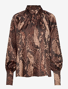 Mandy Blouse - BROWN SNAKE