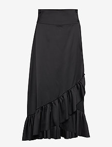 Tammy Long Skirt - midi skirts - black