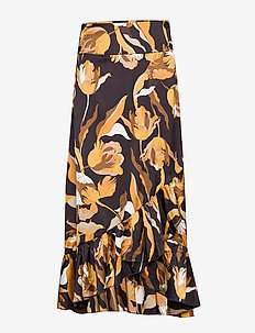 Tammy Long Skirt - midi skjørt - cinnamon tulip