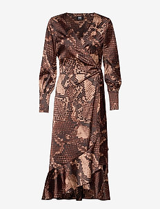 Tammy Dress - BROWN SNAKE