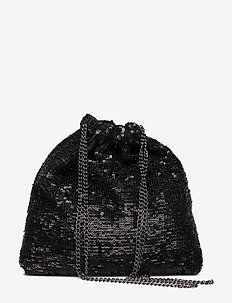 Katy Sequin Bag - shoulder bags - black