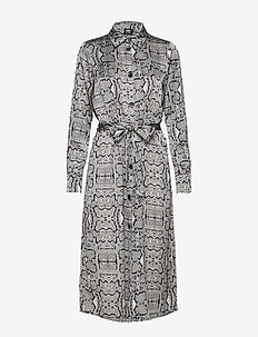 Jannike Dress - shirt dresses - graphic snake
