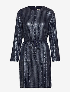 Britta Sequin Dress - NAVY