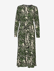 Isabel Dress - GREEN SNAKE