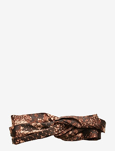 Emelie Headband - BROWN SNAKE
