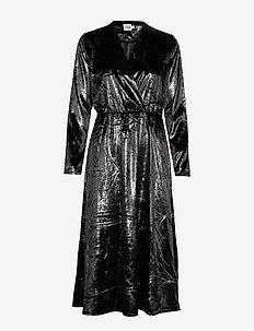 Malena Dress - wrap dresses - black