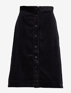 Pia Cord Skirt - midinederdele - black