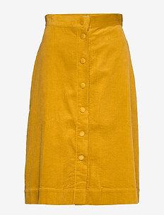 Pia Cord Skirt - spódnice do kolan i midi - mustard