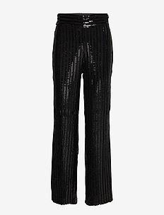 Judi Sequin Trousers - pantalons larges - black